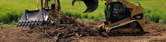 Услуги очистки участков под строительство в Минске и области